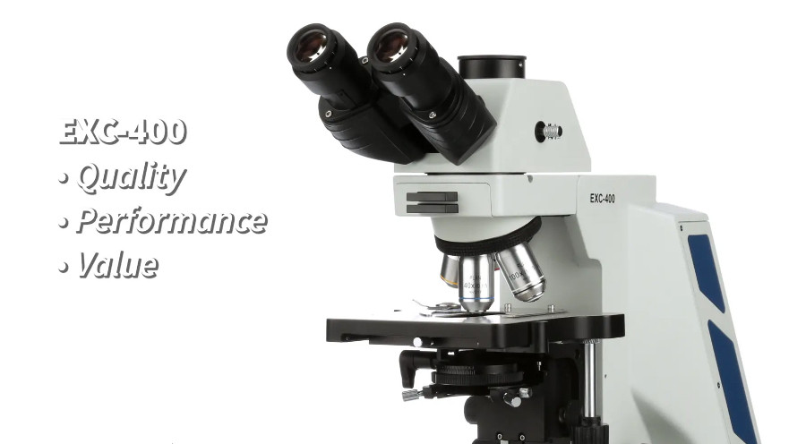 The NEW EXC-400 Microscope  Hits the Mark for Clinical and Research Labs